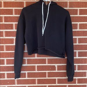 Wild Fable Women's Cropped Hoodie, size S, Black